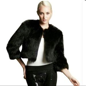 NWOT Banana Republic Faux Fur Black Jacket